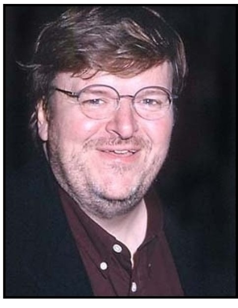 Michael Moore at the Lucky Numbers premiere