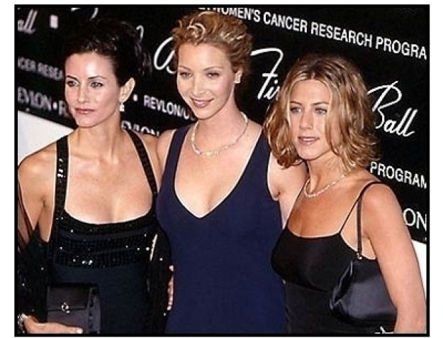 Jennifer Aniston, Lisa Kudrow and Courteney Cox Arquette at the 2000 Fire and Ice Ball