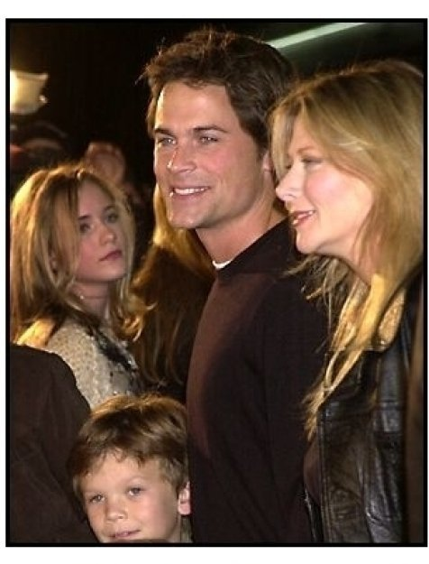 Rob Lowe and family at the Harry Potter Premiere