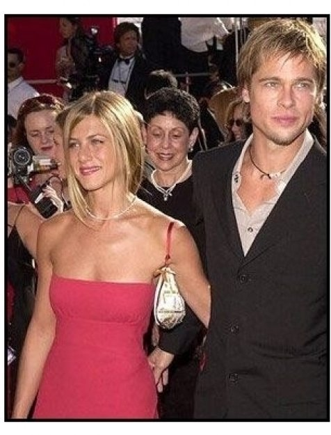 Brad Pitt and Jennifer Aniston at the 2000 Emmy Awards