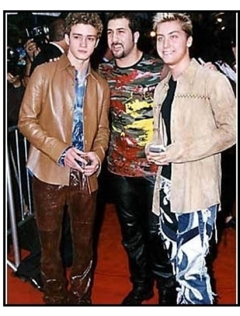 'N Sync members Justin Timberlake, Joey Fatone and Lance Bass at the Coyote Ugly premiere