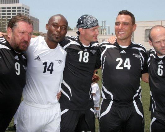 Steve Jones, Jimmy Jean-Louis, Frank Leboeuf, Vinnie Jones and Jason Statham