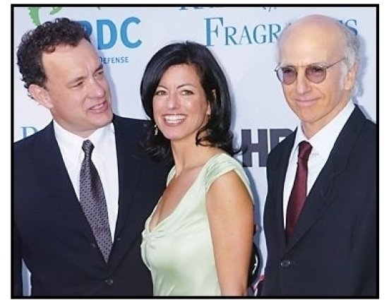 "Tom Hanks, Laurie David and Larry David at the NRDC's ""Earth to L.A.!-The Greatest Show on Earth"" Benefit"