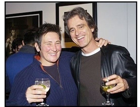 KD Lang & Bobby Shriver at Tanqueray No. TEN's preview of the Herb Ritts memorial collection/ONE TIME USE ONLY