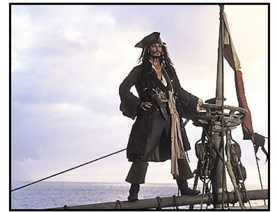 """Pirates of the Caribbean: The Curse of the Black Pearl"" Movie Still: Johnny Depp"